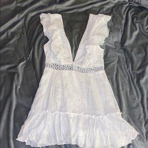 white flowy mini dress